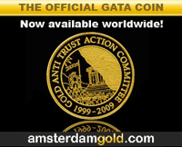 The Official GATA Gold Coin. Now available worldwide.